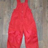 р.110, H&M полукомбинезон теплые лыжные термо-штаны