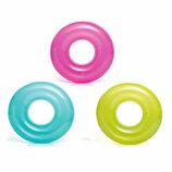 Надувной круг однотонный Intex 59260