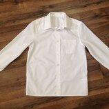 Рубашка F&F белая,можно близняшкам,р.128-134