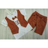 Нарядный костюм-двойка для мальчика р.80-98
