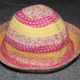 Желто-Розовая панамка George из плотной ткани. На девочку 4-8 лет.