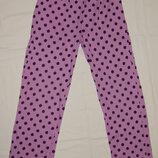 Сиреневые пижамные штаны Moshi Monsters в черный горошек. На девочку 7-8 лет. Рост 122-128 см.