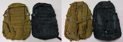 Рюкзак тактический - черный и койот, расцветки