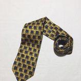 Мужской галстук ermenegildo zegna Эрменегильдо Зегна идеал оригинал желтый