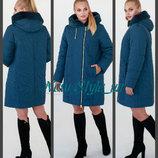 50-58, Зимняя длинная куртка большого размера. Зимнее пальто женское . Зимове пальто.