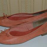 Балетки туфли кожа tamaris размер 41 42, туфлі шкіра