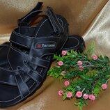 Мужские кожаные натуральная кожа сандали- шлепки