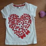 Стильная футболка девочке 5-6 лет