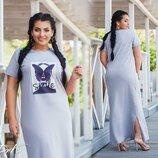 Женское длинное трикотажное летнее платье макси в пол женские трикотажные летние длинные платья