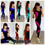 разные расцветки с 42 по 48р костюмы для спорта фитнеса йоги