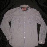 185 рост, рубашка Zara в полоску мужская