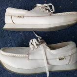Кожаные 44р мужские белые туфли Welkin men shoes