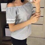 Стильная блуза в полоску Размеры S, M, L