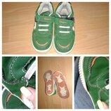 Кроссовки зеленые р.28-17см