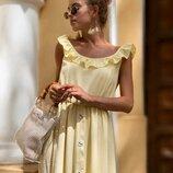 Красивое легкое платье четыре расцветки