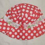 Розовая панамка TU в горошек на девочку 1-2 года.