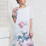 Женское летнее платье с коротким рукавом р.44-52.