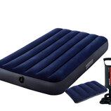 Надувной матрас Intex 68757 с подушкой и ручным насосом
