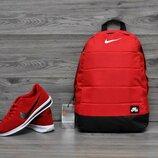 Рюкзак в стиле Nike Air красный городской мужской и женский