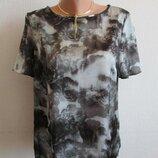 Атласная блузка в нежный цветочный принт next, 12 размер