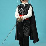 Новогодний костюм Зорро черный