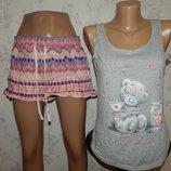 пижама скомбинированная трикотажная майка с батистовыми шортиками р8-10 Me to you