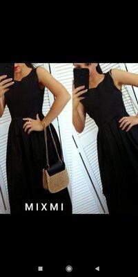 Коттоновое чёрное платье