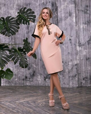 Стильное платье 46,48,50,52,54,56,58 размеры 2 цвета