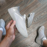 Мужские кеды мокасины слипоны кроссовки текстиль сетка серые с белым черные хаки синие под Adidas
