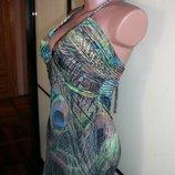 Шикарное платье жар-птица. Сарафан павлиньи перья