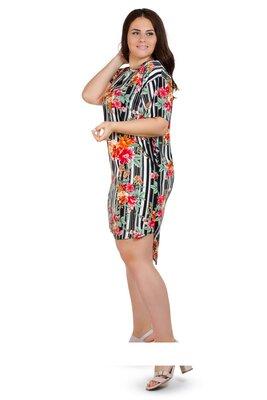 Акция Летнее легкое платье рубашка . Ткань штапель , размер 2 XL, 3 XL ,4 XL . 52,54,56.