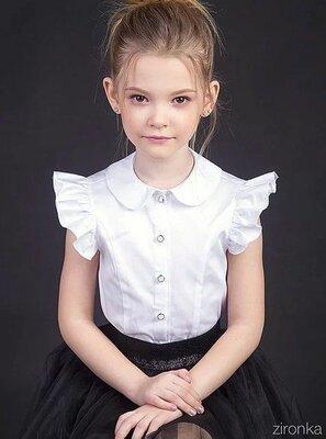 Красивая школьная блузка Зиронька