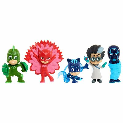 Just Play PJ Masks Герои в масках Набор фигурок 5 шт 24688 Catboy, Owlette, Gekko, Romeo, Night Ninj
