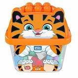 Mega Bloks First Builders Конструктор 25 деталей веселый тигр GCT48 Smiley Tiger
