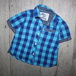 Шведка рубашка нарядная стильная Mothercare 1-1,5 года, рост 80-86 см.