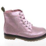 Демисезонные ботинки R21835652 розовые стразы 27-32