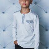 Белый стильный реглан для мальчика vsl-01988