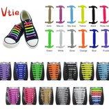 силиконовые шнурки 16 шт в упаковке антишнурки