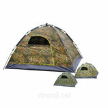 Палатка автоматическая smart camp, 4-х местная, камуфляж