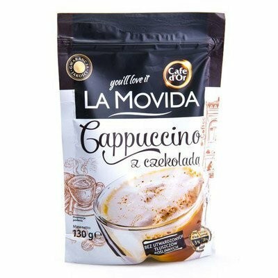 Вкусное капучино 130 грамм La Movida со вкусом шоколада,ореха или сливок