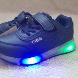 Кросівки BBT з мигалками, напис Fila