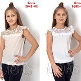 Блузка с коротким рукавом 2842 Мевис Размеры 122-146