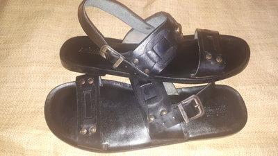 46р-31 см кожа добротные сандалии кожа Sebastian Made inItaly идеальное состояние ширина стельки 11.