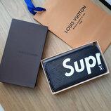 Кошелек клатч Supreme Louis Vuitton синий код 339