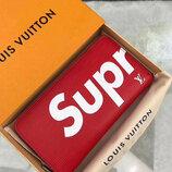 Кошелек клатч Supreme Louis Vuitton красный код 340