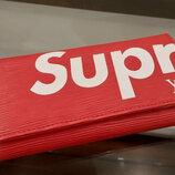 Кошелек клатч Supreme Louis Vuitton красный код 341