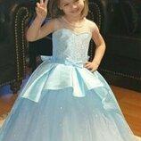 Пышное детское нарядное бальное выпускное платье