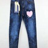 Низкая цена- супер качество Стильные джинсы для девочки Венгрия.