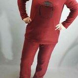Супер мягусенькие теплые флисовые пижамки размер 50 54 ткань турция