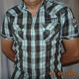 Стильная фирменная рубашка шведка Manguun.м-л
